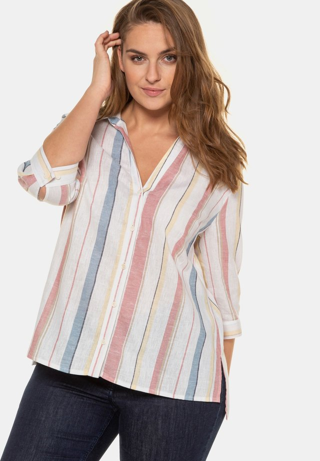 Button-down blouse - rosenholz