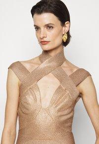 Hervé Léger - BANDAGE MINI DRESS - Cocktail dress / Party dress - rose gold - 5