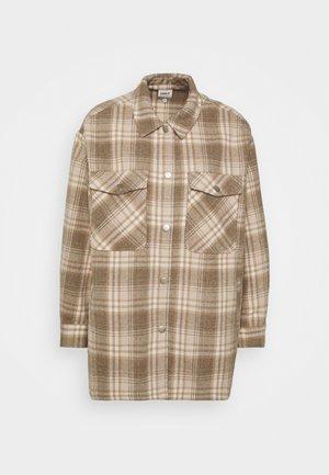 ONLELLENE VALDA CHACKET - Summer jacket - humus/beige/white