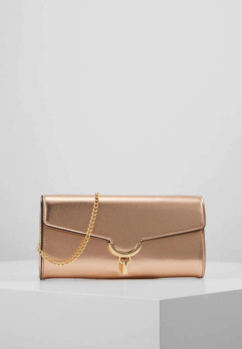 Dorothy Perkins - TWIST BAR CLUTCH - Clutches - rose gold-coloured