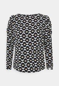 Dorothy Perkins - GEO PRINT LONG SLEEVE PUFF SHOULDER - Long sleeved top - black - 5