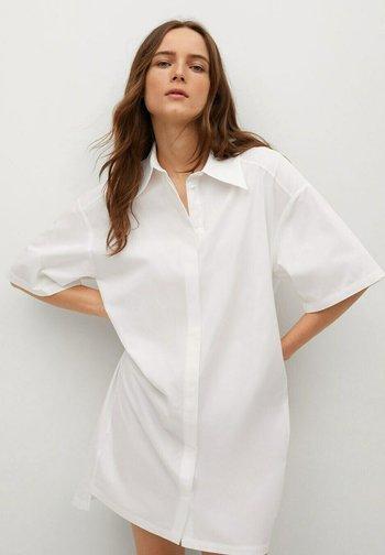 Shirt dress - wit