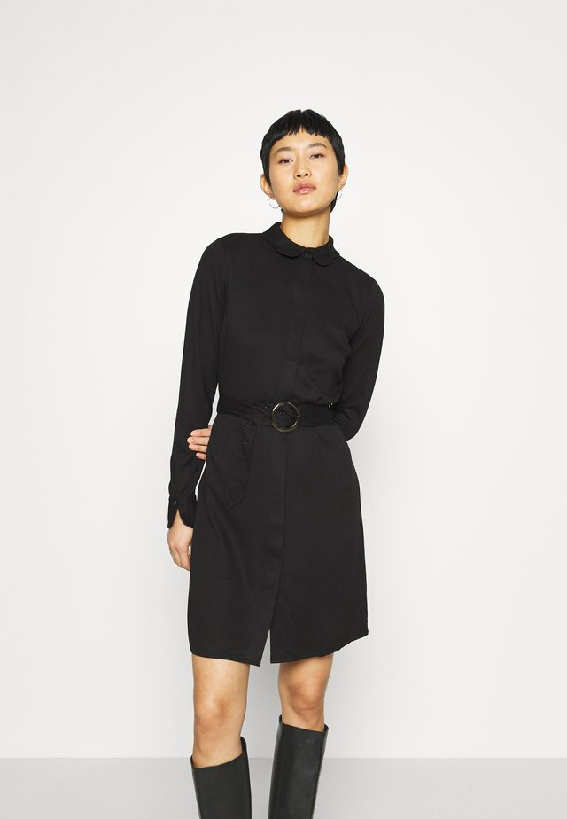 PERI BELT DRESS - Blousejurk - black