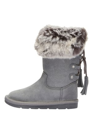 GREY TALL FAUX FUR PULL-ON BOOTS (OLDER) - Bottes de neige - grey