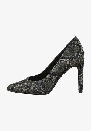 High heels - dk.grey str.