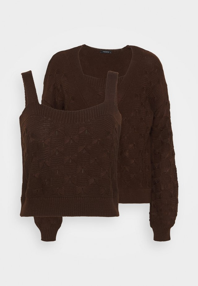 SET - Cardigan - brown