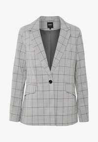 ONLY - ONLCAROLINA CHECK - Blazer - light grey melange/black - 4