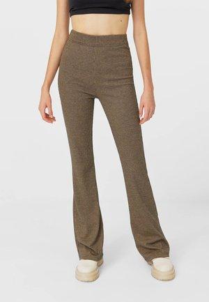 MIT SCHLAG  - Kalhoty - beige