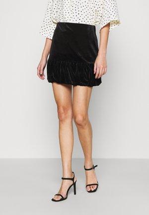 PUFFBALL - Mini skirt - black
