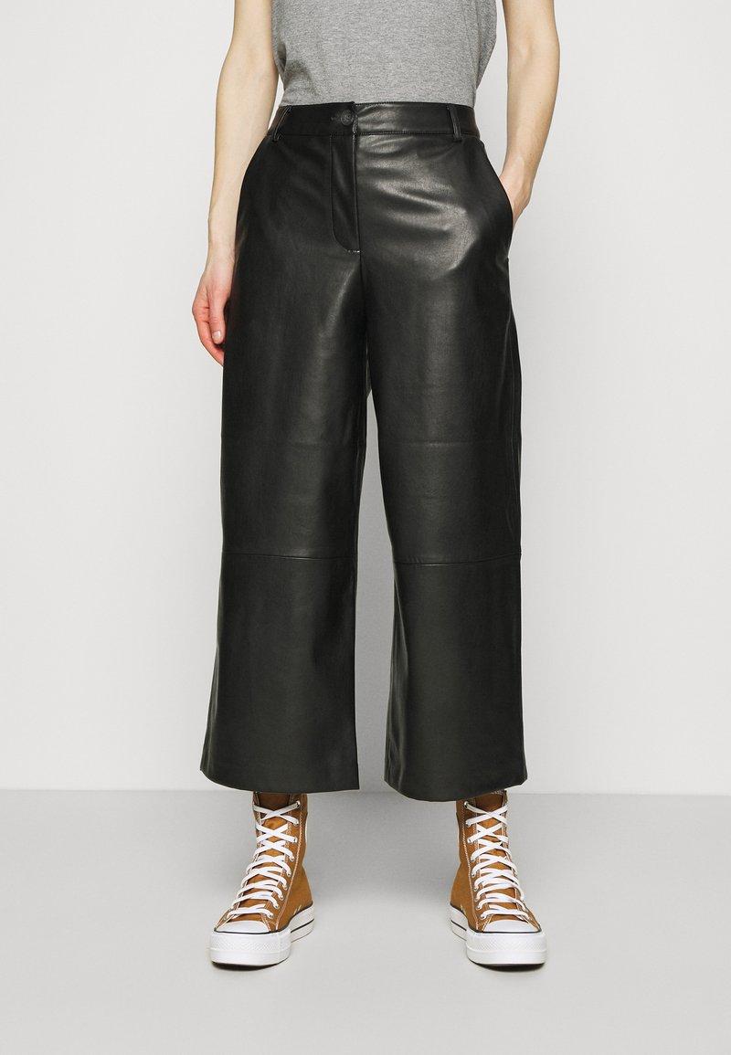 Opus - MILLI - Kalhoty - black