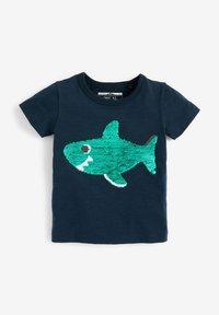 Next - SHORT SLEEVE - Print T-shirt - dark blue - 2