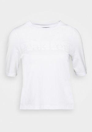 BOUNCE TEE - T-shirt z nadrukiem - white