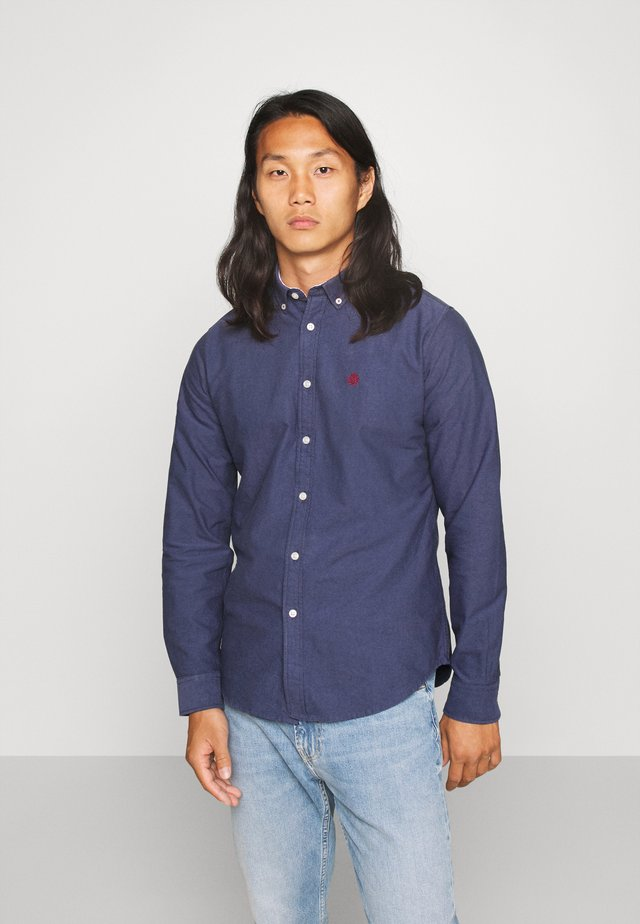 SOLID OXFORD ORGANIC - Shirt - dark blue