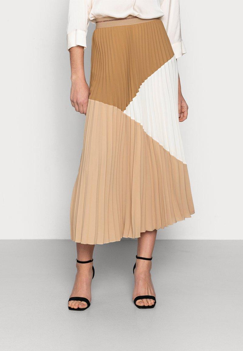 Mos Mosh - MORELLA PLISSE SKIRT - Pleated skirt - incense