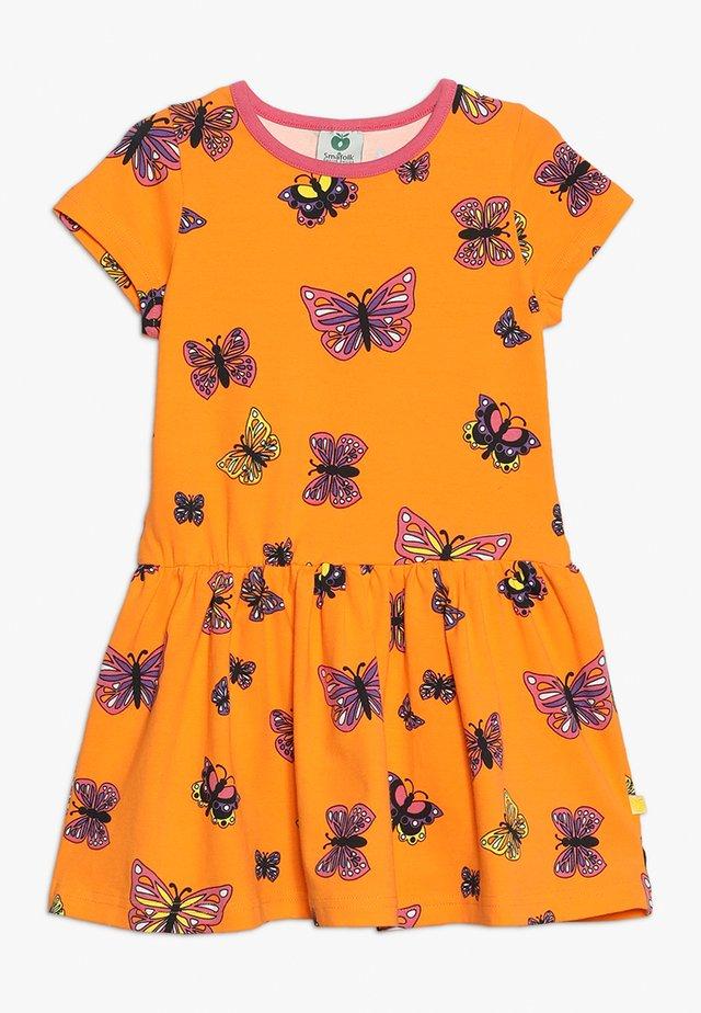 DRESS BUTTERFLY - Jersey dress - orange