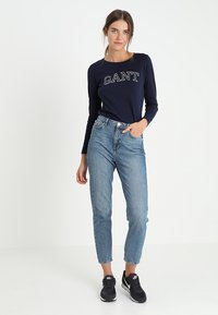 GANT - ARCH LOGO - Long sleeved top - evening blue - 1