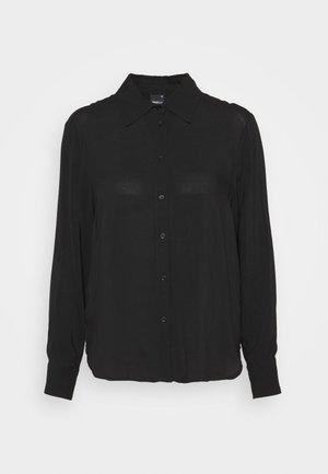 HILMA - Button-down blouse - black
