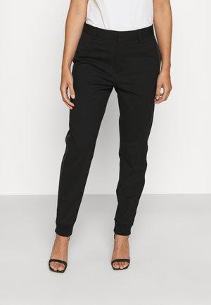 PUNTO PANTS - Trousers - black