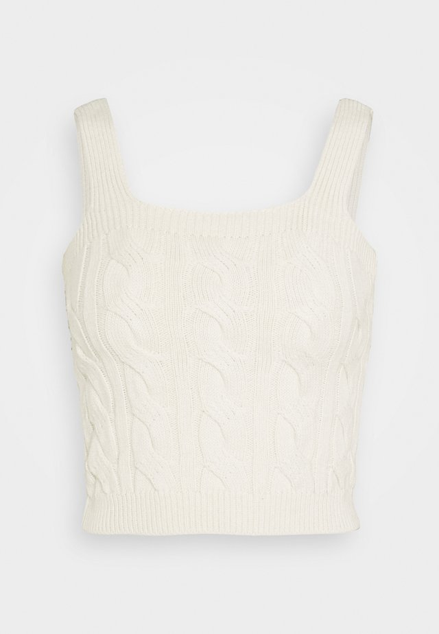 CABLE BRALETTE - Linne - off white
