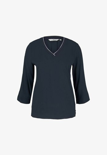 SOLID - Long sleeved top - sky captain blue