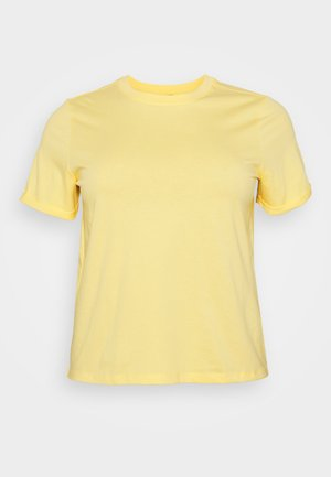 PCRIA FOLD UP SOLID TEE - Basic T-shirt - pale banana