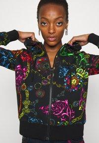 Versace Jeans Couture - Zip-up sweatshirt - black/multi - 7