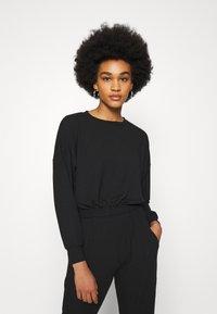 New Look - ELASTIC HEM SET - Sweatshirt - black - 2