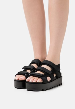 VEGAN KATO PADDED CHUNKY - Platform sandals - black