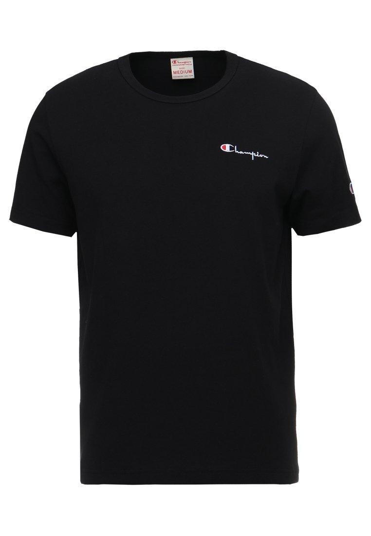 Champion Reverse Weave - CLASSIC APPLIQUE TEE - Basic T-shirt - black