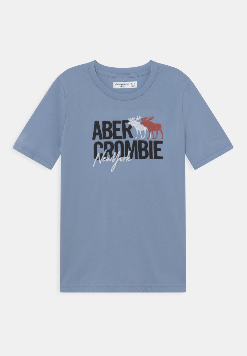Abercrombie & Fitch - LOGO - T-shirt con stampa - blue
