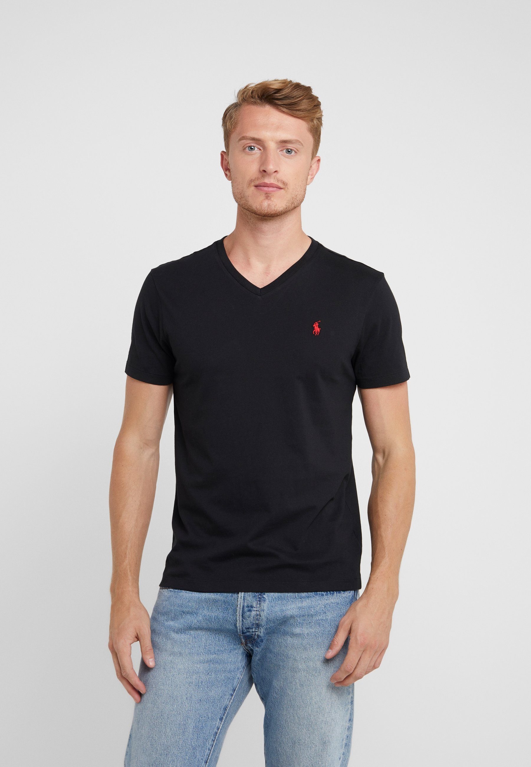 Men CUSTOM SLIM FIT JERSEY V-NECK T-SHIRT - Basic T-shirt