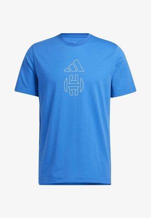 HARDEN INDIVIDUALITY LOGO T-SHIRT - Print T-shirt - blue