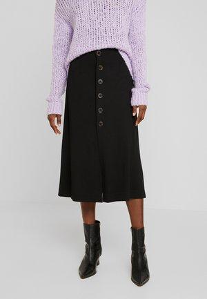 SLFAMANDA MIDI SKIRT - A-line skirt - black