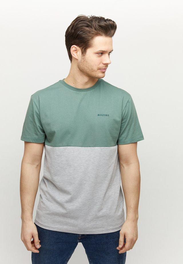 UTICA - Basic T-shirt - forest/grey mel.