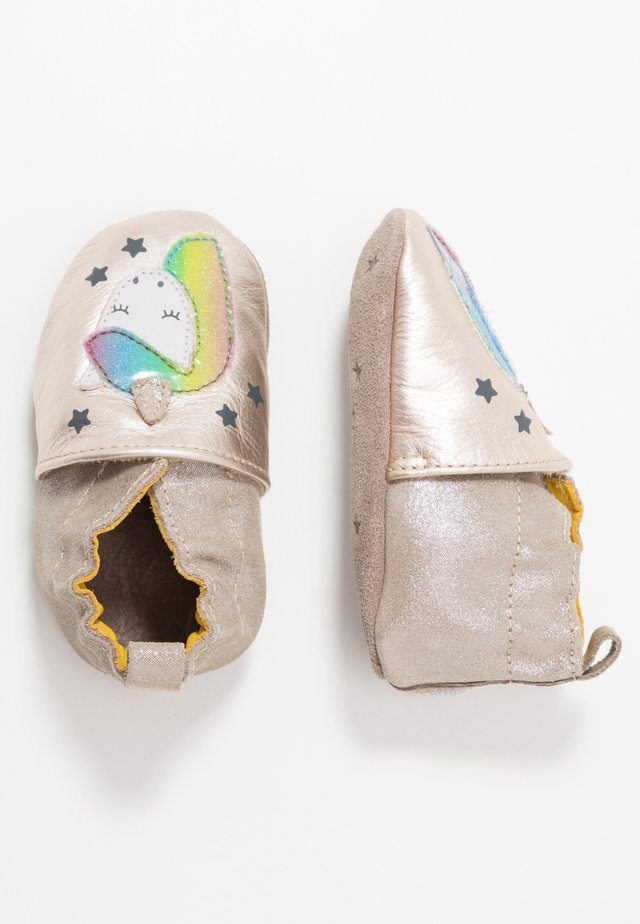 CUT UNICORN - First shoes - beige metal