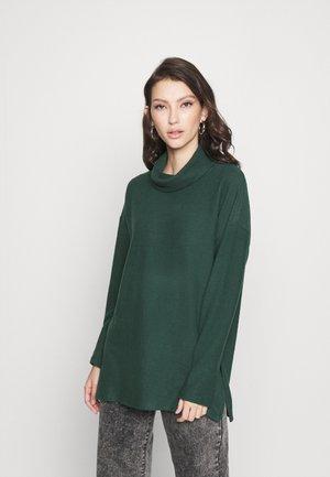 BELLA LONGLINE - Jumper - mid green