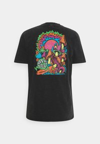 Santa Cruz - EXCLUSIVE TOXIC WASTE UNISEX  - T-shirt imprimé - black acid wash - 1