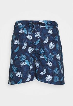 PALM PRINTED - Shorts - navy