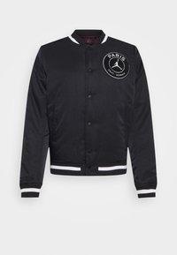 Nike Performance - M J PARIS ST GERMAIN VARSITY JACKET - Bomber Jacket - black/bordeaux/metallic gold - 5