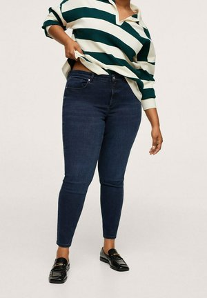 PUSHUP - Jeansy Skinny Fit - intensives dunkelblau