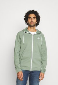Nike Sportswear - Zip-up hoodie - spiral sage/ice silver/white - 0