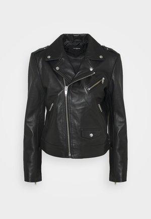 JACKET - Kožená bunda - black