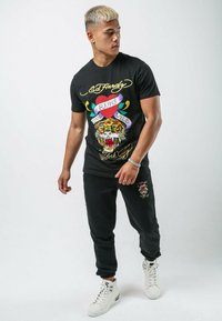Ed Hardy - WILD-LOVE T-SHIRT - Print T-shirt - black - 1