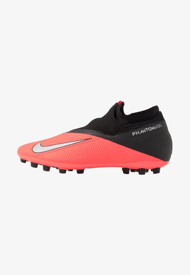 PHANTOM VISION 2 ACADEMY DF AG - Moulded stud football boots - laser crimson/metallic silver/black