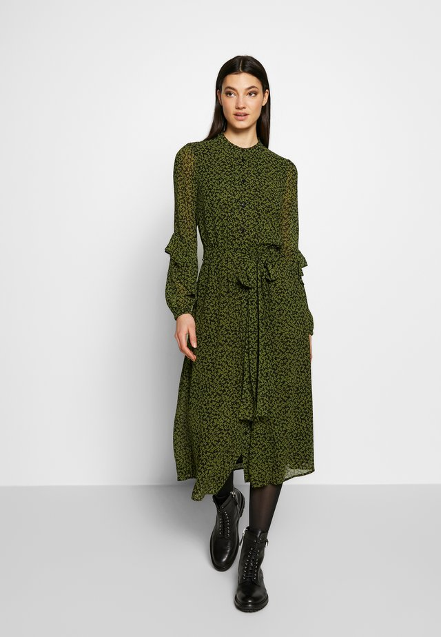 DRESS - Day dress - black/evergreen