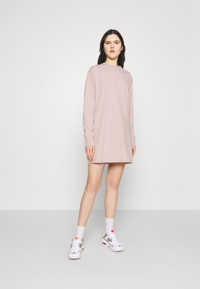 DRESS - Jerseyjurk - champagne/white
