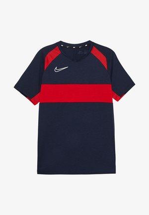 DRY ACADEMY  - T-shirt sportiva - obsidian/university red/white