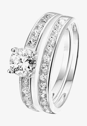 MET ZIRKONIA - Ring - zilver