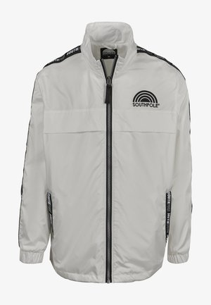 SOUTHPOLE HERREN SOUTHPOLE LOGO TAPE TRACK JACKET - Training jacket - white