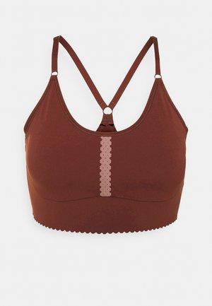 INDY EYELET BRA - Light support sports bra - bronze eclipse/smokey mauve